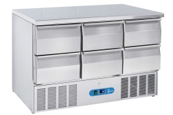 SALADETTE 3 DOORS - GN1/1 - WITH 6 DRAWERS