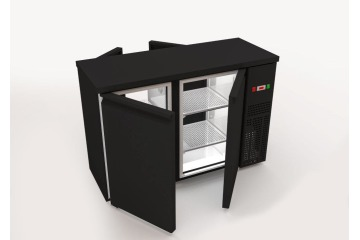 PASS TRUE BACK BAR COOLER 2 SIDES 2 SOLID DOORS - WITH COMPRESSOR 1380mm