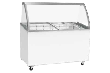 SCOOP ICE CREAM CABINET FOR 7 X 5L BINS - WITHOUT STORAGE