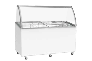 SCOOP ICE CREAM CABINET FOR 8 X 5L BINS - WITHOUT STORAGE